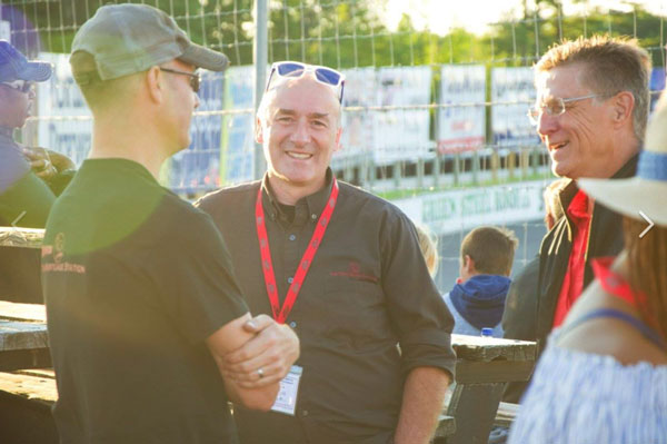 David Flude and The Mortgage Station team enjoying a fantastic day at Sunset Speedway.