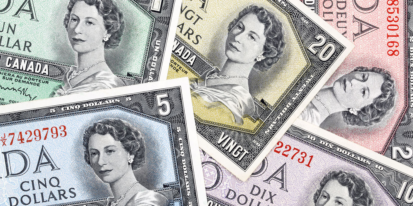 Old Canadian dollars, a business background