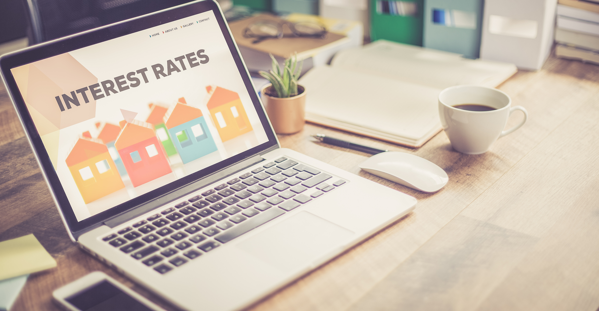 mortgage interest rate on laptop